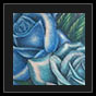 blue roses tattoo design