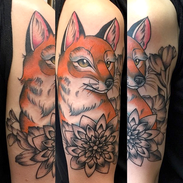 traditional fox tattoo